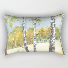 Autumn watercolor landscape Rectangular Pillow