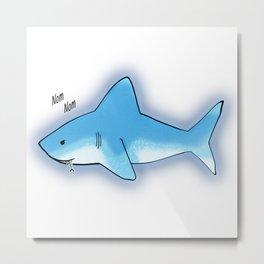 Nom Nom Shark Metal Print