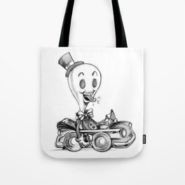 """doodle """"WHITEOUT"""" Tote Bag"""