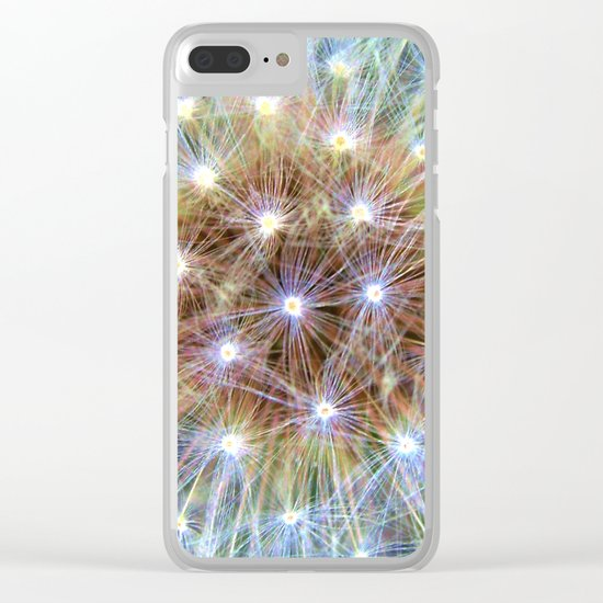Luminous Colorful Blowball Clear iPhone Case