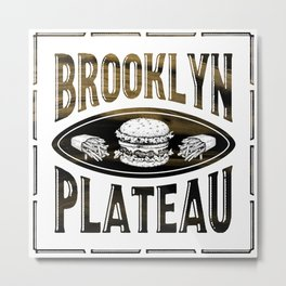 Brooklyn X Plateau - NYC x MTL Metal Print