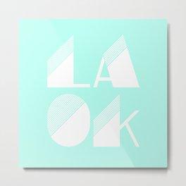 LA OK Metal Print