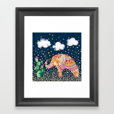 Elephant with Pattern Framed Art Print