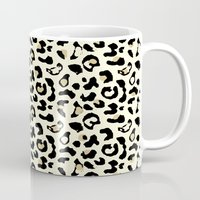 leopard Mugs featuring Leopard by Laura Maria Designs