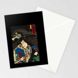 Hawks with worrior in Japan Stationery Cards