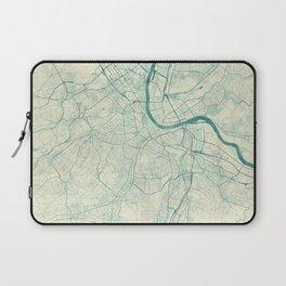 Basel Map Blue Vintage Laptop Sleeve