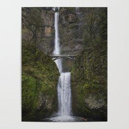 Multnomah Falls in Early Spring Poster