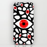 evil eye iPhone & iPod Skins featuring Evil Eye by Denise R.
