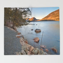 Jordan Pond Trail Throw Blanket