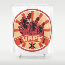 Vape Propaganda | Vaper Vaping E-Cigarette Shower Curtain
