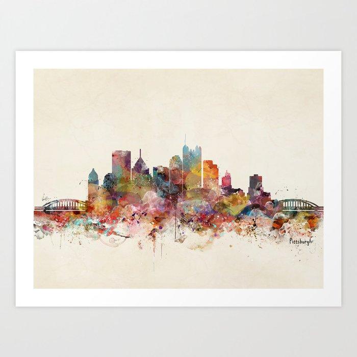 pittsburgh pennsylvania skyline Art Print