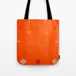 -A10- Traditional Anthropologie Moroccan orange Artwork. Tote Bag