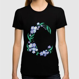 Frame from abstract flowers T-shirt