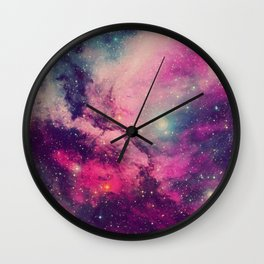 Purple Twilight Galaxy Wall Clock