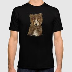 little brown bear Mens Fitted Tee MEDIUM Black