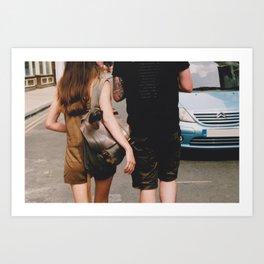 York 35mm Couple Walking Art Print