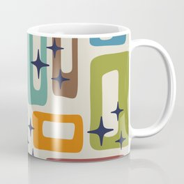 Retro Mid Century Modern Abstract Pattern 224 Coffee Mug