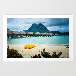 Bora Bora Beach Art Print