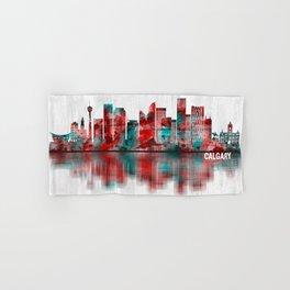 Calgary Canada Skyline Hand & Bath Towel