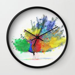 Peacock Colorful Wall Clock