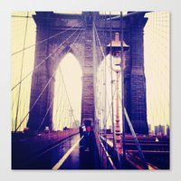 brooklyn Canvas Prints featuring Brooklyn by April Gann