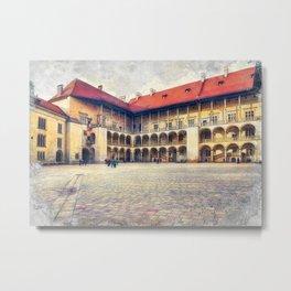 Cracow art 17 Wawel #cracow #krakow #city Metal Print