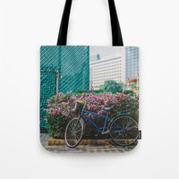 singapore Tote Bags featuring Singapore by Tosha Lobsinger is my Photographer
