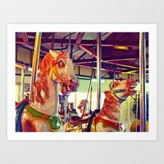 Still racing Art Print