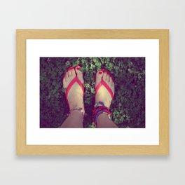 summer feet  Framed Art Print