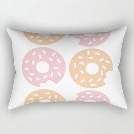 Six Sprinkled Donuts Rectangular Pillow