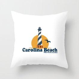 Carolina Beach - North Carolina. Throw Pillow