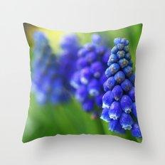 Bluebells in Sneem Throw Pillow