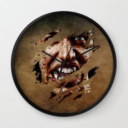 Vampire Screaming Wall Clock