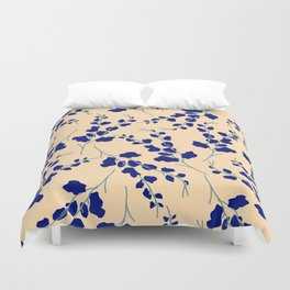 Blue Buds Duvet Cover