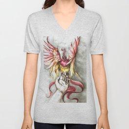 Phoenix Rebirth of Life Unisex V-Neck