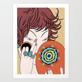 CORRINE: Art Deco Lady - DESERT ELEGANCE Art Print