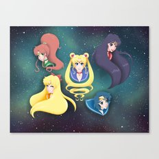 Sailor Moon and the Inner Senshi Canvas Print