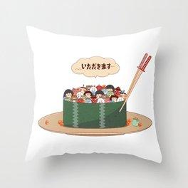 Yokai Sushi Throw Pillow