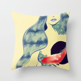 Hazy Pisces Throw Pillow