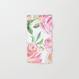 Roses Water Collage Hand & Bath Towel