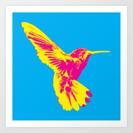 CMY Bird Art Print