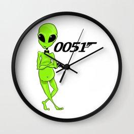 Secret Alien Man Wall Clock
