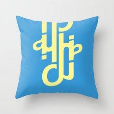 Type Foundry - Helvetica Neue Bold Italic Throw Pillow