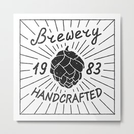 Brewery Handcrafted Fashion Modern Design Print! Beer style Metal Print