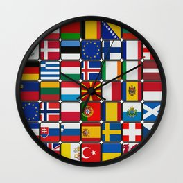 European Flag Wall Clock