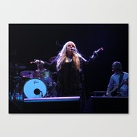 stevie nicks Canvas Prints featuring Stevie Nicks by Molly Johnson