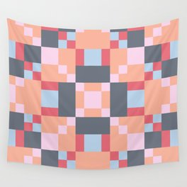 Native Patchwork Pixel Wall Tapestry