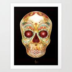 WICKED SKULL Art Print