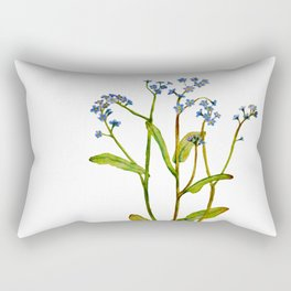 Forget-me-not flowers watercolor art Rectangular Pillow