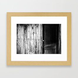 Knock Knock Framed Art Print